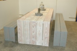 picknick tafel whitewash
